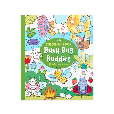 OOLY coloring book Busy bugs buddies front cover