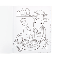 OOLY coloring book Little Farm Friends page