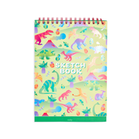 OOLY Standing Sketch book with Darling Dinos featuring metallic cover