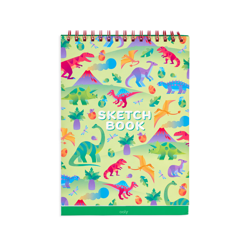 OOLY Standing Sketch book with Darling Dinos