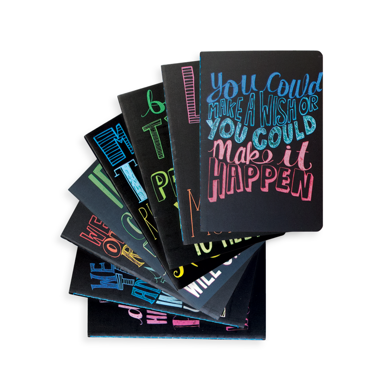 8 Pocket Pal Quotations pocket journals fanned