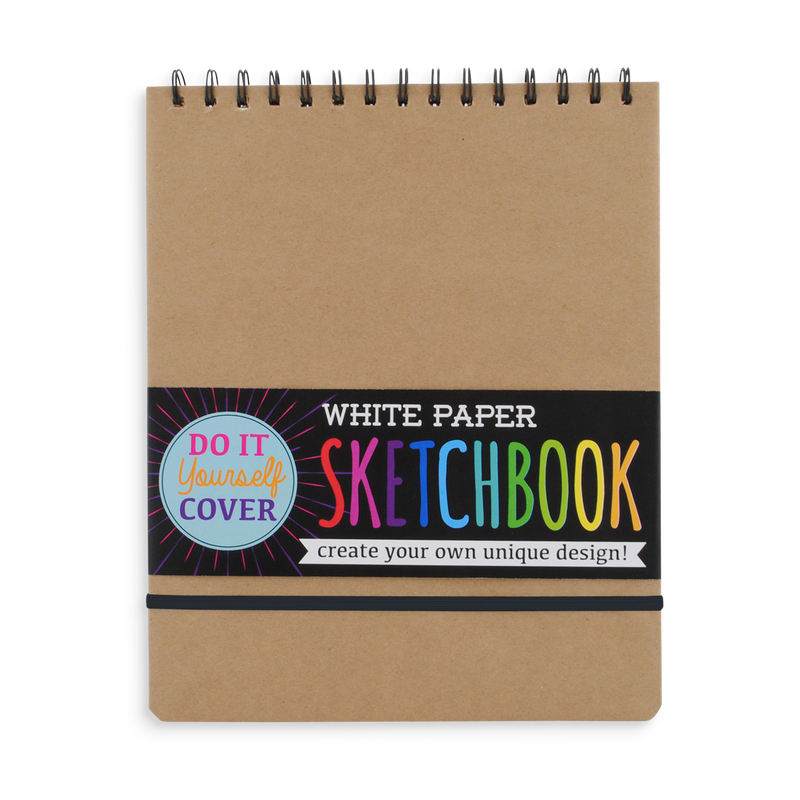 DIY Cover white paper sketchbook with perforated pages