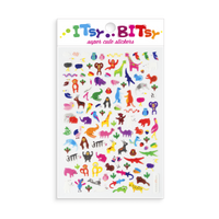 Itsy Bitsy - Jungle Pals mini sticker sheet