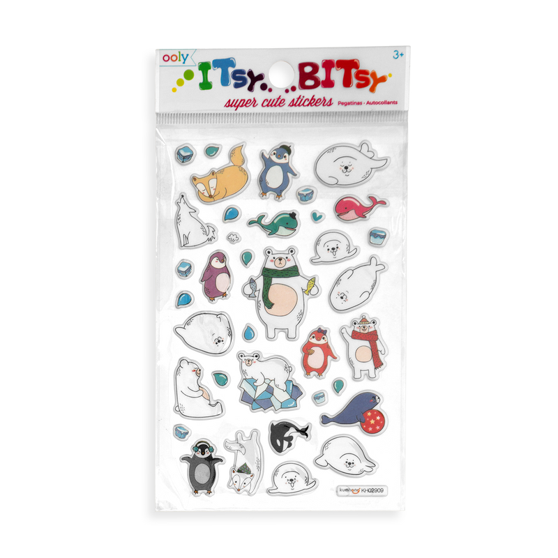 Itsy Bitsy - Arctic Antics Life mini sticker sheet in the package.