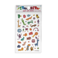 Itsy Bitsy - Wacky Wildlife mini sticker sheet in package.