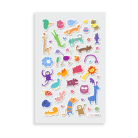 Itsy Bitsy - Wacky Wildlife mini sticker sheet