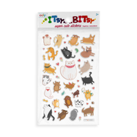 Itsy Bitsy - Puffy Pets mini sticker sheet in the package.