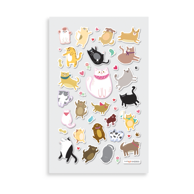 Itsy Bitsy - Puffy Pets mini sticker sheet