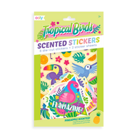 Tropical Birds Scented Stickers in packaging