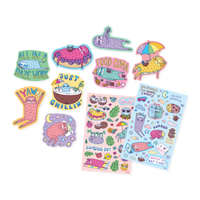 Sleepy Sloths Scented sticker sheets and die cut stickers out of packaging