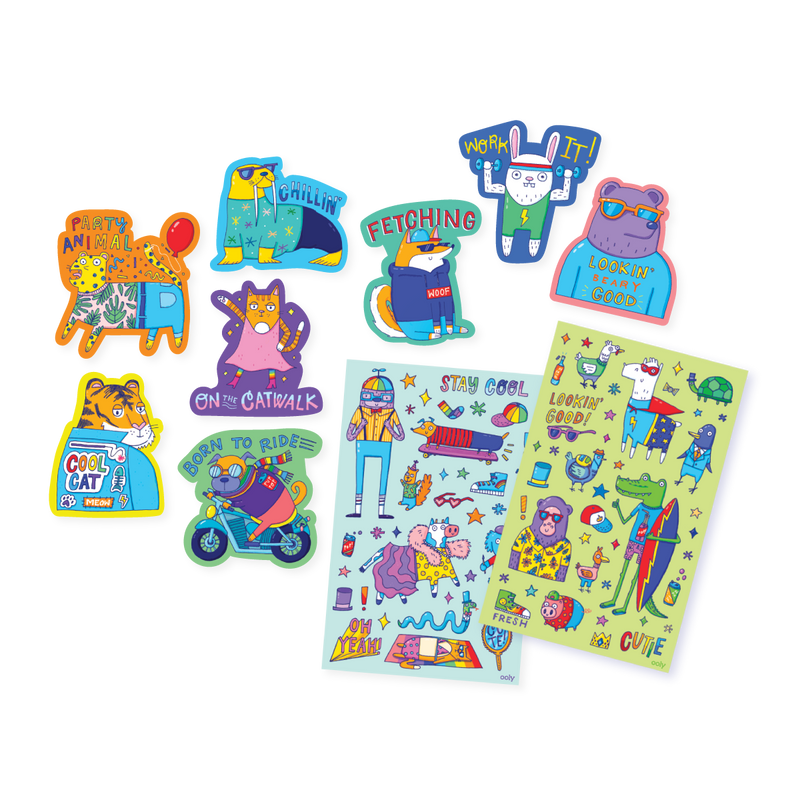 Dressed to Impress Scented Stickers splayed out of package