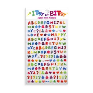Itsy Bitsy - Pattern Alphabet mini sticker sheet