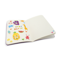 Itsy Bitsy mini stickers inside a small notebook