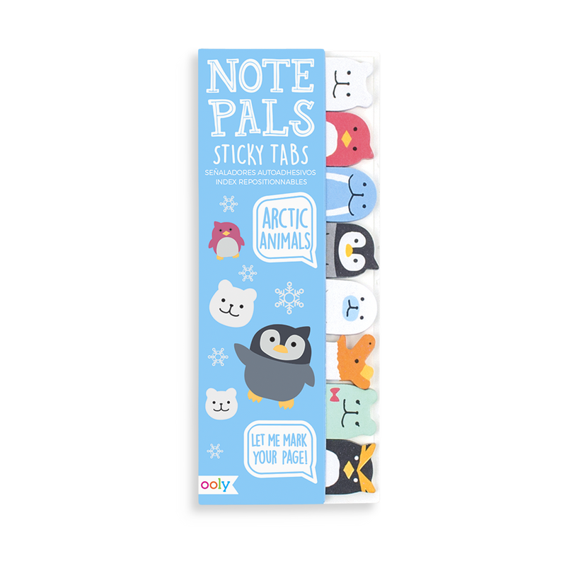 Arctic Animals Note Pals sticky tabs for notes, reminders etc