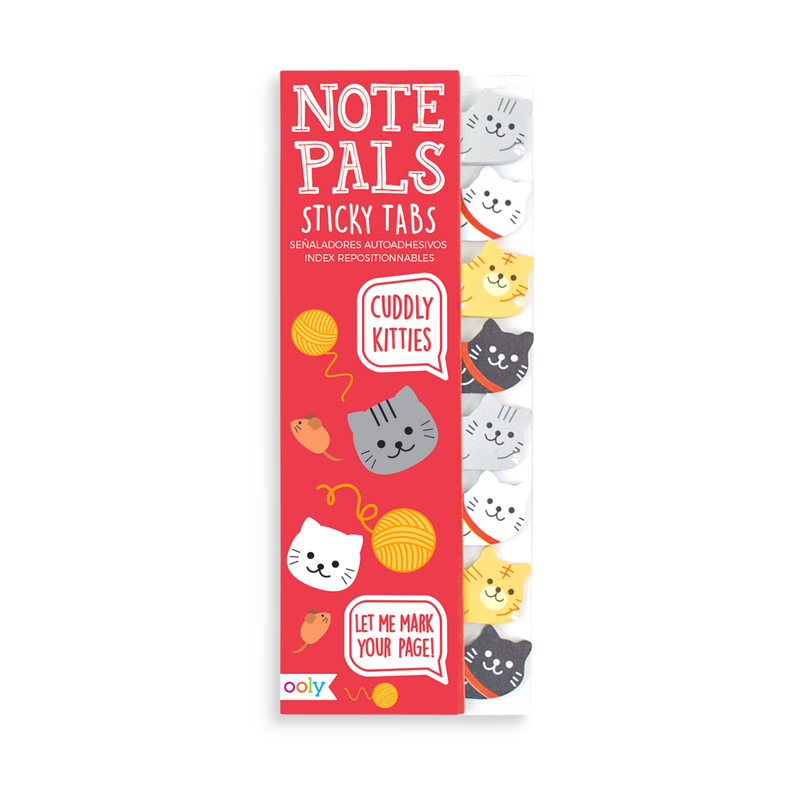Note Pals Sticky Tabs featuring Cuddly Kitties