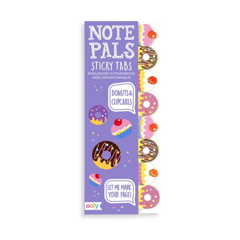 Note Pals Sticky Tabs with frosted donut designs