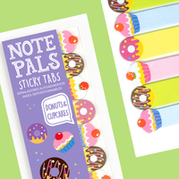 Note Pals Sticky Tabs - Donuts & Cupcakes shown close-up