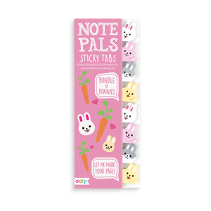 Note Pals Sticky Tabs with bunny designs