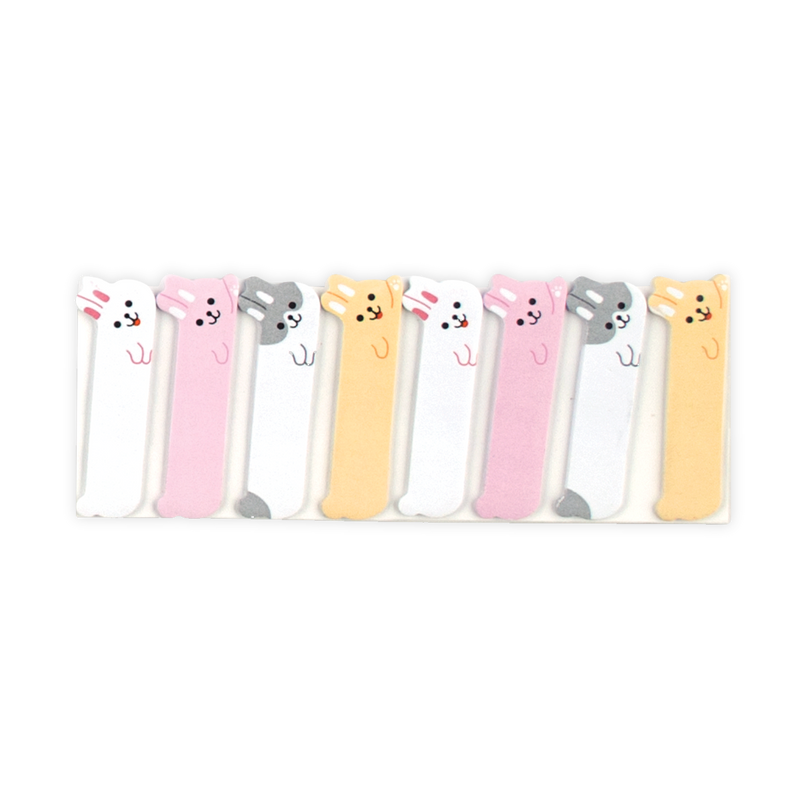Super cute bunny themed sticky tabs with 4 unique designs and 120 stickers in a set