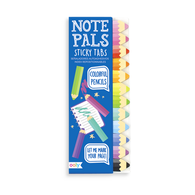 Crayon themed Note Pals Sticky Tabs for mini notes and reminders