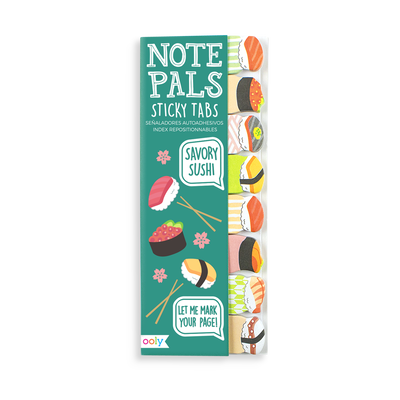 Note Pals Sticky Tabs with sushi designs
