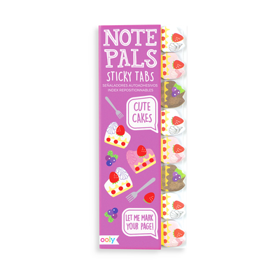 Note Pals Sticky Tabs with sweet cake designs