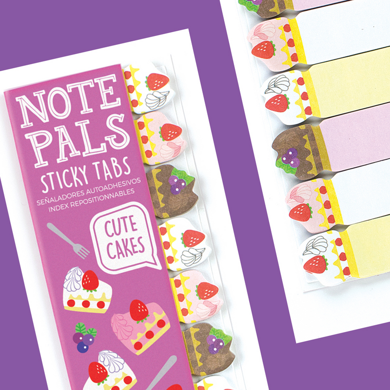 Note Pals Sticky Tabs Cute Cake