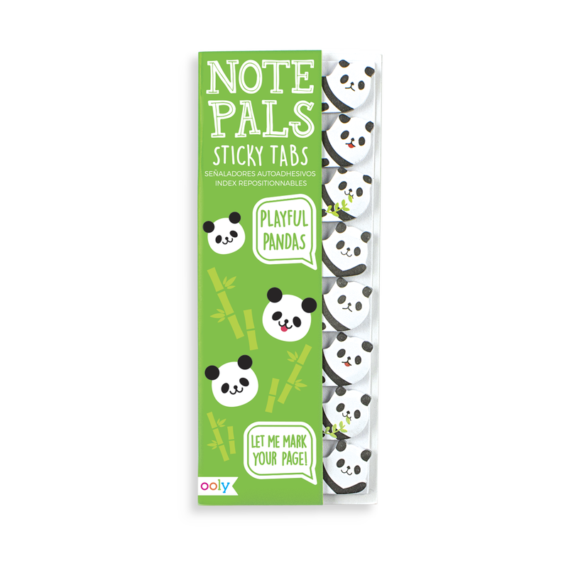 Note Pals Sticky Tabs with panda bear designs