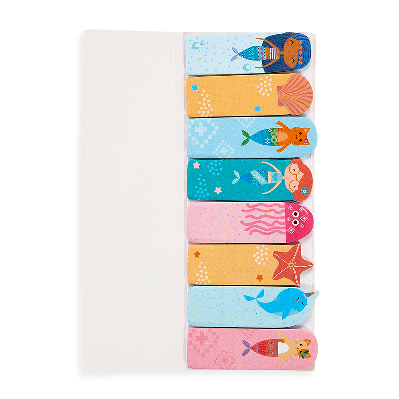 8 different mermaid themed sticky tabs from the Note Pals Sticky Notes mermaid set