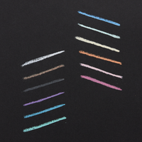 Chalk-O-Rama Crayon swatches on black paper