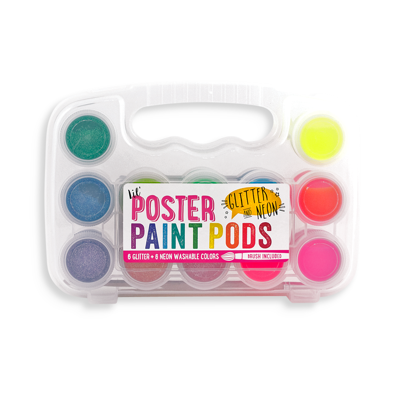 lil Poster Paint Pods Glitter and Neon paint set