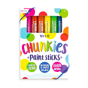 Chunkies Paint Sticks set in packaging. Set of 12.