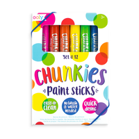 OOLY Chunkies Paint Sticks set in packaging. Set of 12.