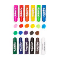 OOLY Chunkies Paint Sticks with swatches of each stick color