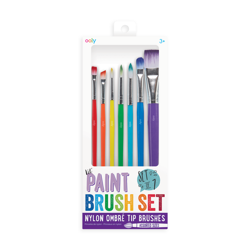 OOLY set of 7 paint brush in assorted sizes new packaging.