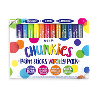 Chunkies Paint Sticks variety pack with original colors, neon and metallic