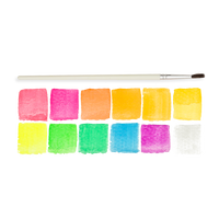 Chroma Blends Neon Watercolor Set color swatches and brush