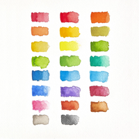 Chroma Blends Watercolor Palette swatches on watercolor paper