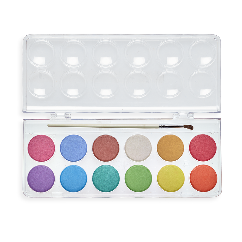 Pearlescent Chroma Blends Watercolor Paint Set with case open