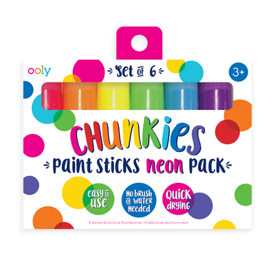 Chunkies Paint Sticks Neon 6 pack  in packaging