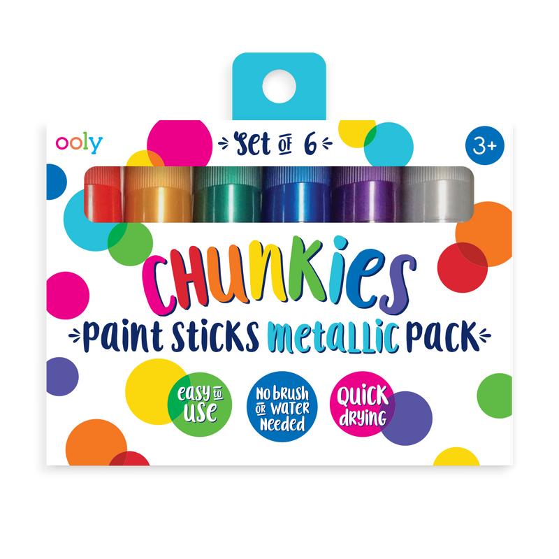 Chunkies Paint Sticks Metallic 6 pack  in packaging