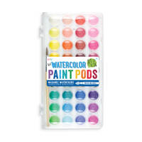 lil Watercolor Paint Pod set with watercolor paint and paintbrush