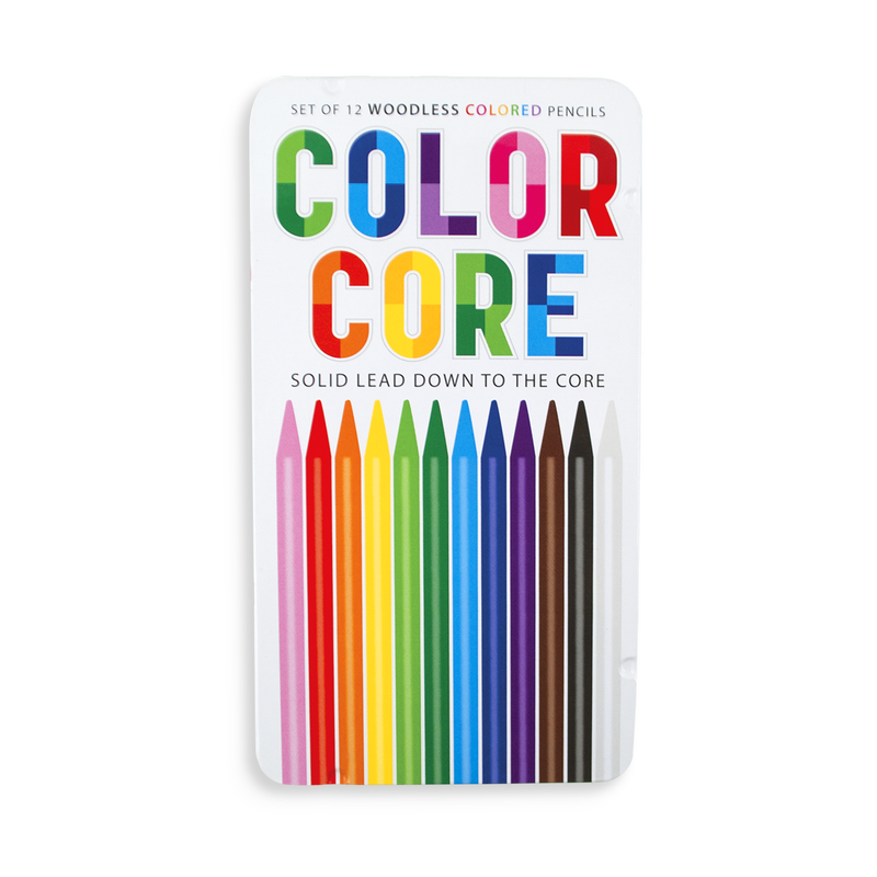 Color Core Colored Pencils are all pigment and wood free pencils for long lasting coloring.