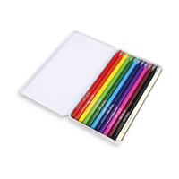 Color Core Pencils come in a reusable tin as a set of 12.