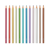 Modern Metallics Colored Pencils lined up out of packaging