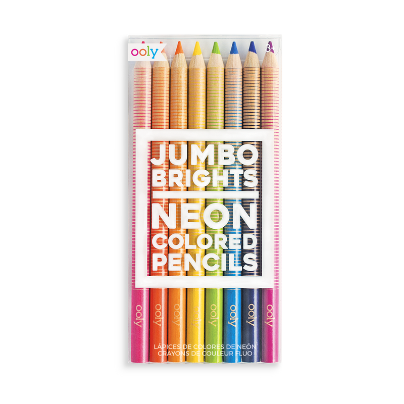 Jumbo Brights Neon Colored Pencils - OOLY