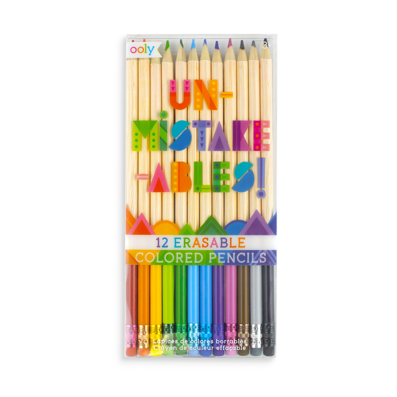 Unmistakeables Erasable Colored Pencils - OOLY