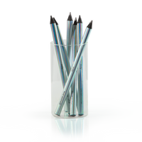 Holla! Graphic graphite pencils in a clear container