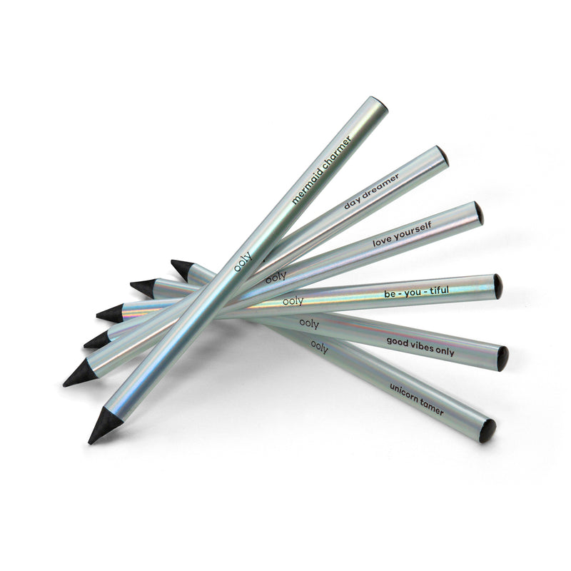 Holla Graphic Pencils arranged in a fan shape