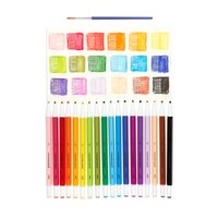 Chroma Blends Mechanical Watercolor Pencils with swatch colors of each of the 18 pencil colors